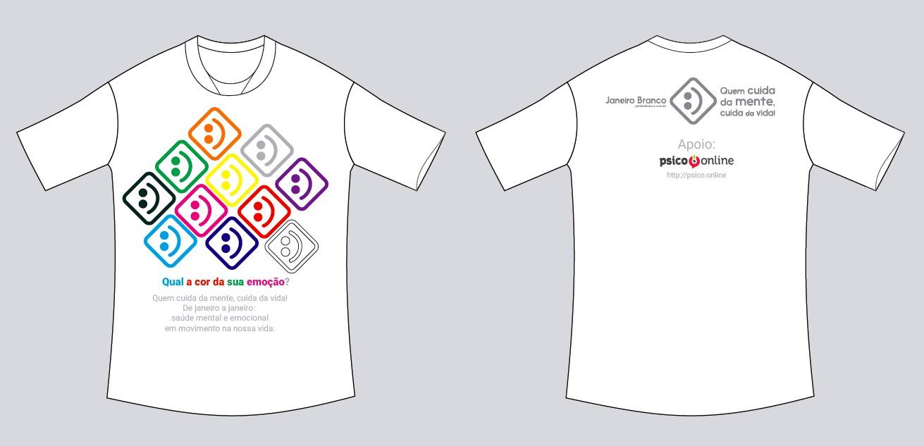 miniatura camiseta cores Psico.Online Acesse agora.